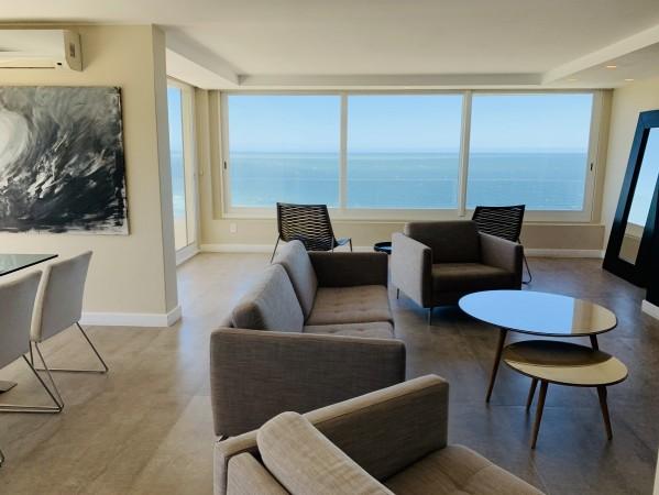 alquiler anual pent-house 3 dormitorios primera linea playa brava - lmt1039a